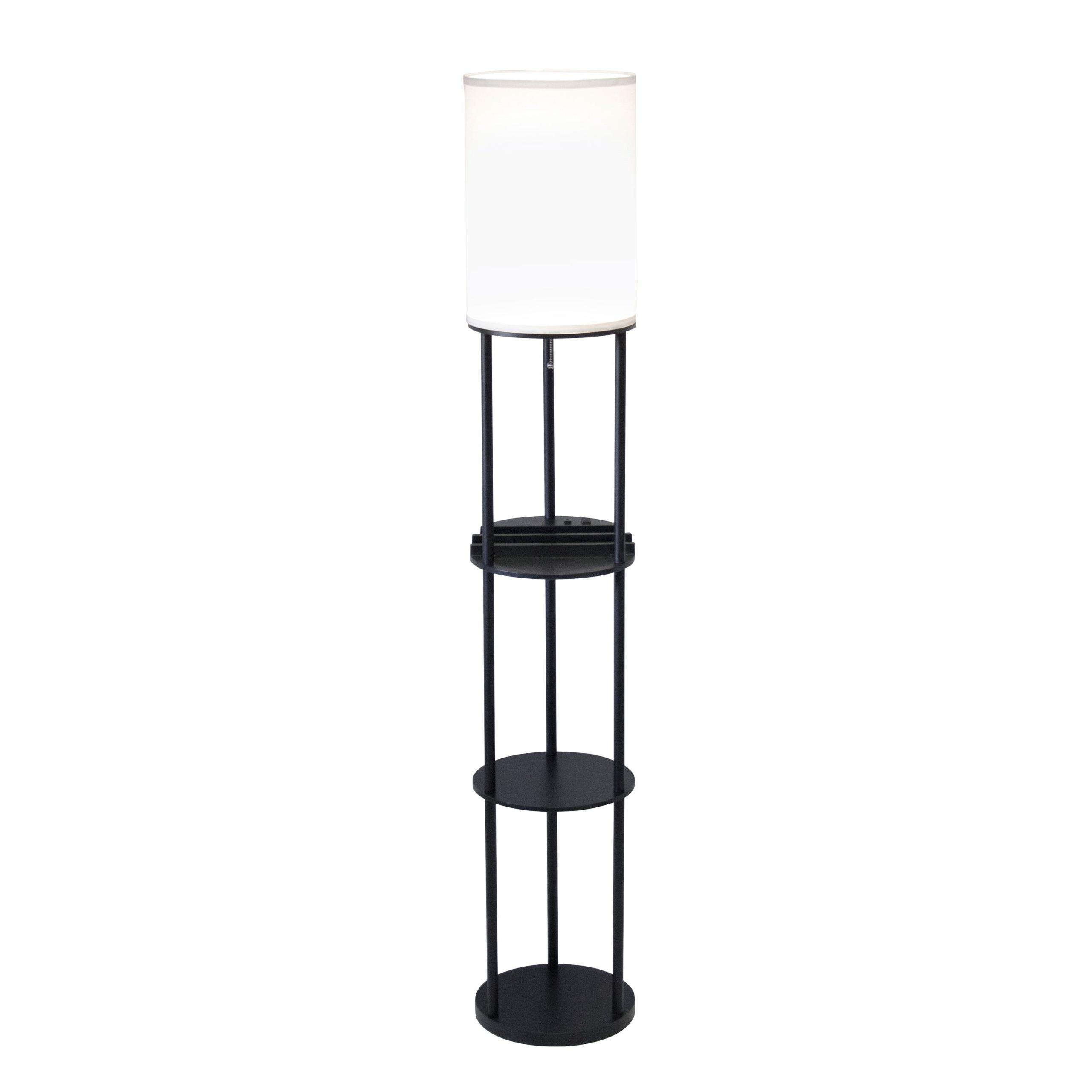 Charging Station Shelf Floor Lamp 11